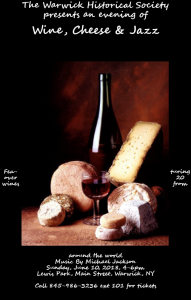 Wine Cheese & Jazz @ Lewis Park | Warwick | New York | United States